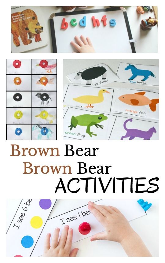 Fun and hands-on Brown Bear, Brown Bear activities to do with preschoolers and kindergarteners after reading the classic book, Brown Bear, Brown Bear, What Do You See?:
