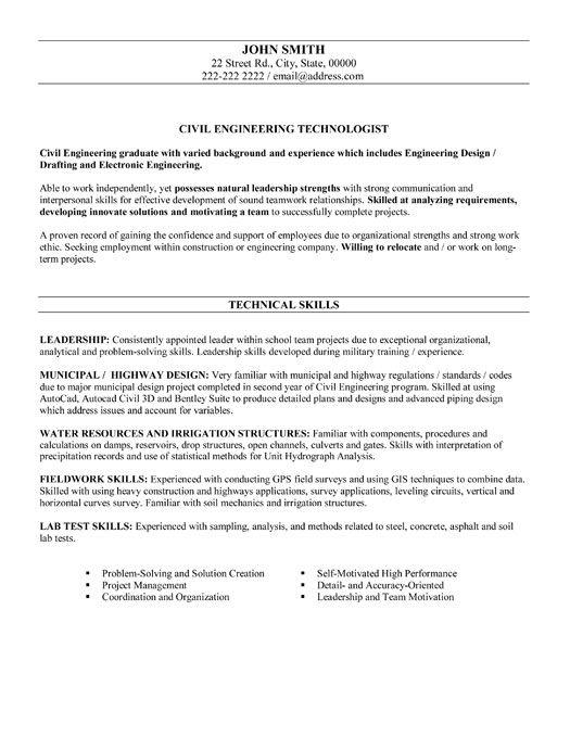 Junior Year Writing Civil Engineer