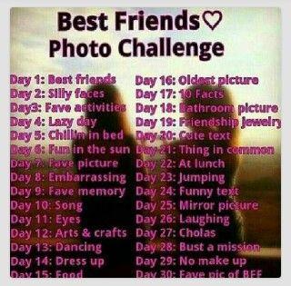 Best friend photo challenge   bestfriends   Pinterest