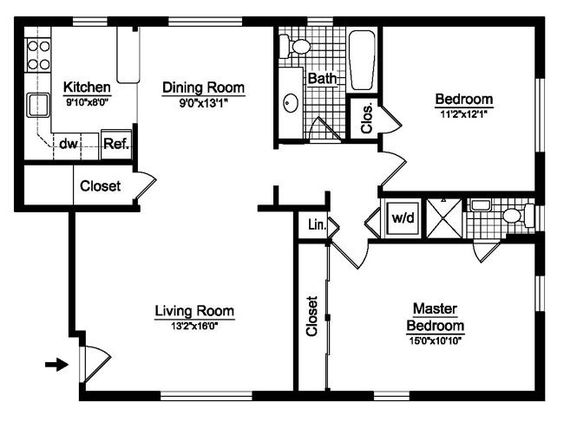2 Bedroom House Plans Free Two Floor Prestige