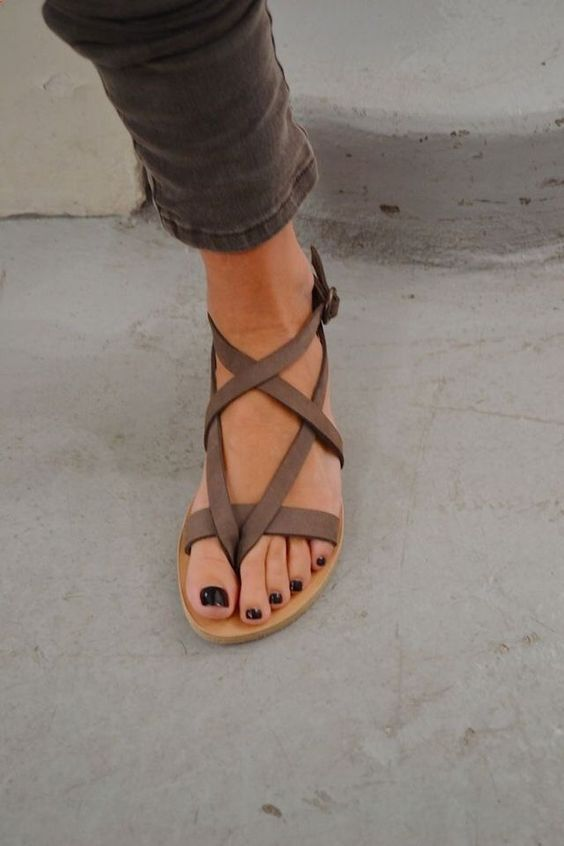strappy sandals: