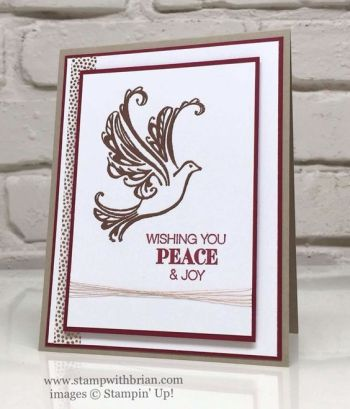 Strength & Prayers, Holly Jolly Greetings, Stampin' Up!, Brian King, Christmas card:
