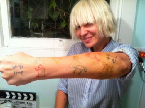 Image result for sia furler tattoos