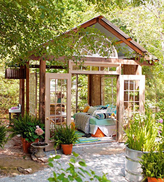 Small + Simple Outdoor Living Spaces | Gardens, Backyards ... on Small Backyard Living Spaces  id=41267