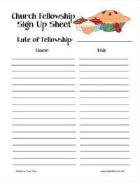 halloween sign up sheet editable