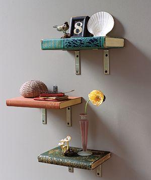 books as shelves.: