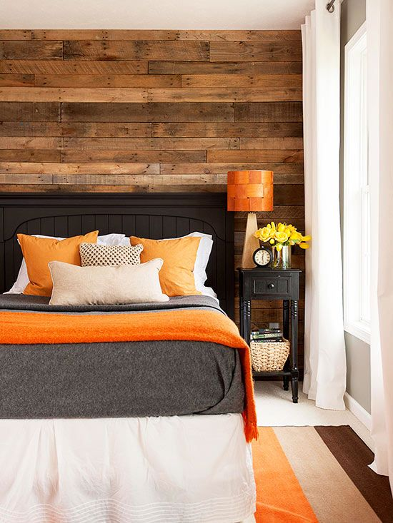 Reclaimed and Rustic - I love the idea of adding this to the wall behind the bed in our master bedroom, it would add so much warmth.:
