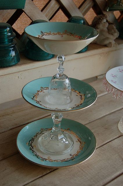 upcycle old china dinnerware | upcycled chic i recently made these cake stands from antique vintage ...