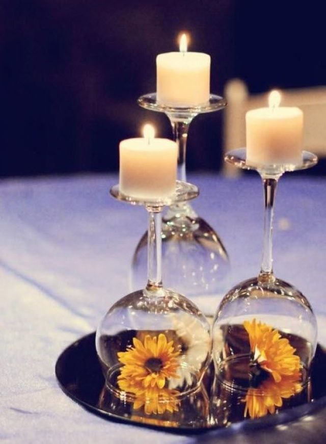 blog centerpiece wine glass 12 Wedding Centerpiece Ideas from Pinterest: