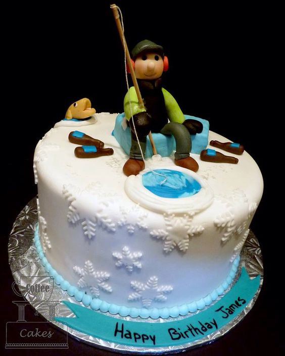 Ice Fishing Birthday Cakes 2 Pinterest Ice Fishing