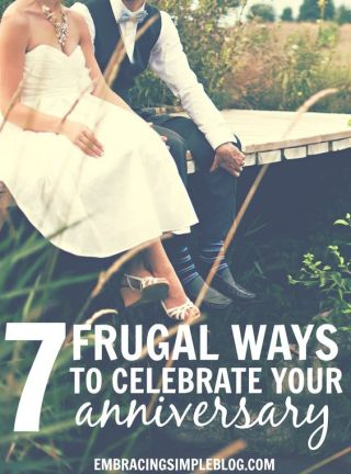 Looking for fun celebration ideas that will allow you to enjoy your spouse's company but won't bust your budget? Here are 7 frugal ways to celebrate your anniversary!: