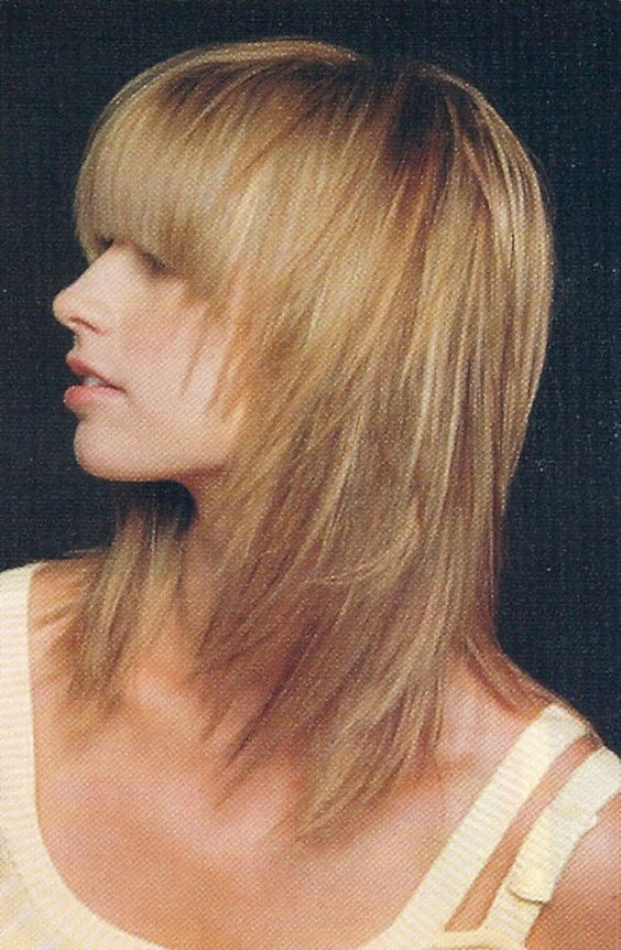 Layered Hairstyles For Medium Length Hair Side View Of