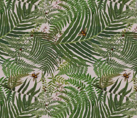 """""""Fernomenal"""" Ferns fabric by linda_facci on Spoonflower - custom fabric:"""