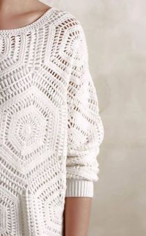 Free Crochet Pattern and Instructions for Anthropology Pullover - Picture Based | Crochet patterns | Bloglovin':