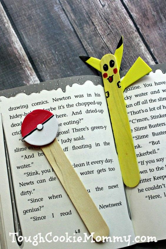 DIY Pokemon Bookmark And Pointer: