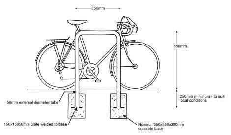 bike parking dimensions Google Search Interior