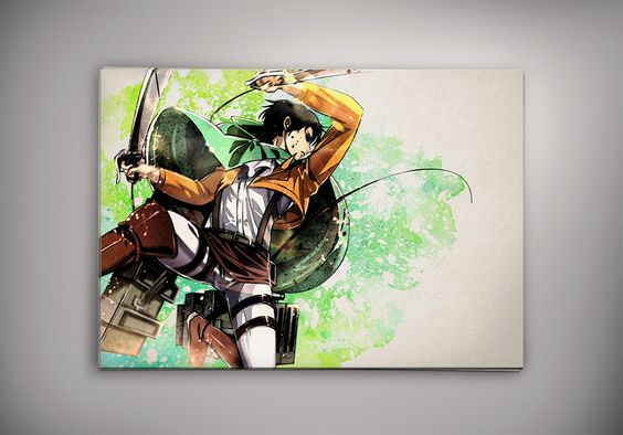 Manga Watercolor, Watercolor Print And Shingeki No Kyojin