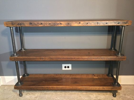 Rustic Shelving, Urban Looks And Gas Pipe On Pinterest