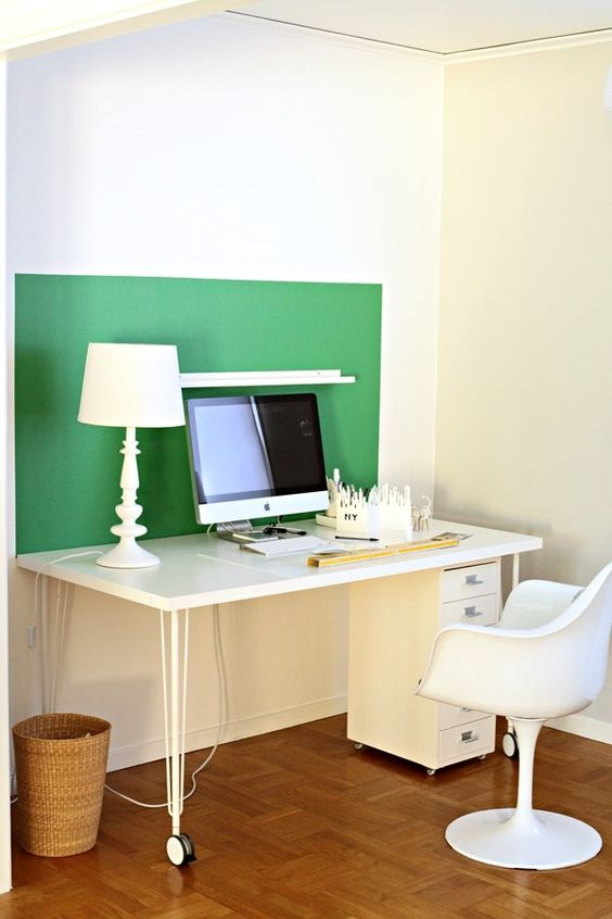 white office with green color block color block on pinterest office colors id=70061