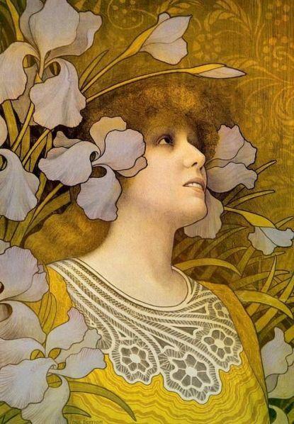 Sarah Bernhardt by Paul Berthon ~ 1901 ~ via Belle Époque Europe: