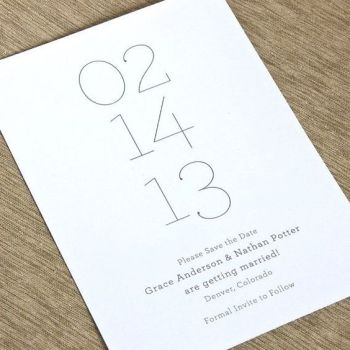 Kartu undangan Sederhana