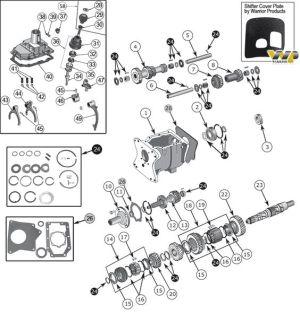 Interactive Diagram  Jeep CJ7 T176 & T177 Transmission