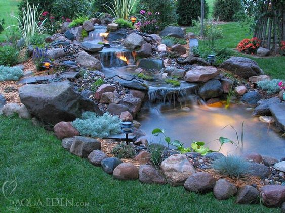 small backyard pond and waterfall faribault mn ponds on stunning backyard lighting design decor and remodel ideas sources to understand id=55899