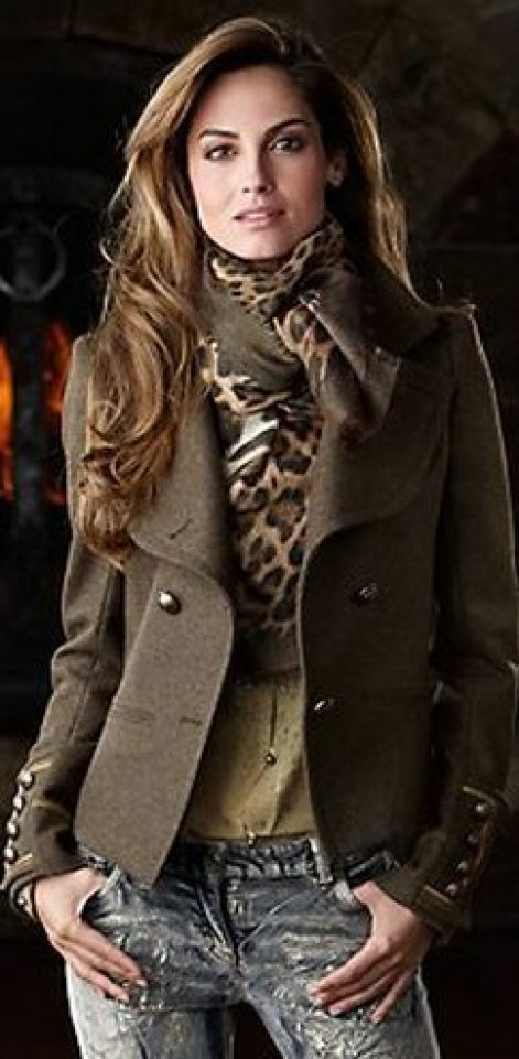 Women's' fashion ... RALPH LAUREN Denim, Fabulous jacket and grand scarf.: