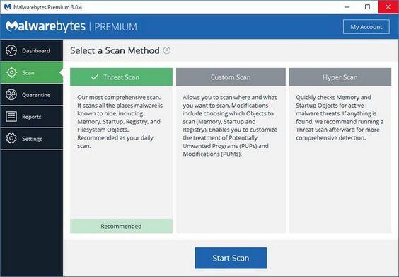 Malwarebytes Premium Screenshots