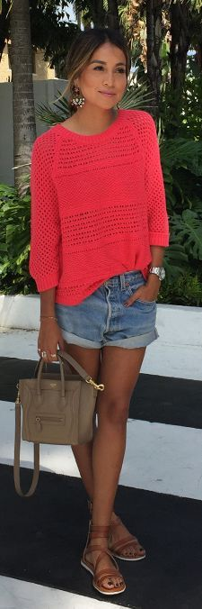 Aerie Sweater+Celine Bag+AE Sandals || vía Sincerely Jules: