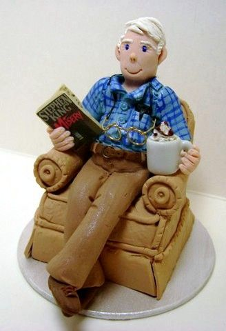 Grandpa In Chair Gum Paste Figures And Other Things