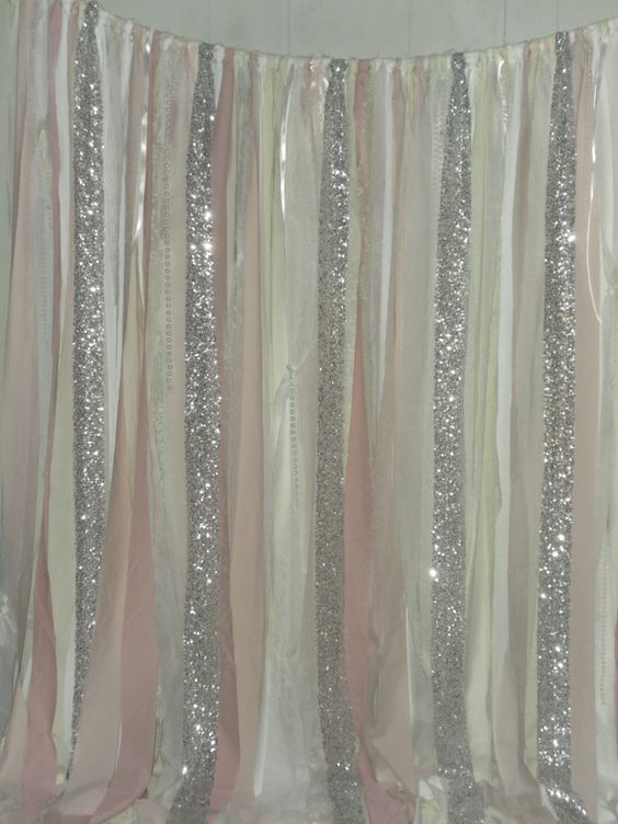 Photo Booth Backdrop Sequin Fabric And Blush Pink On Pinterest