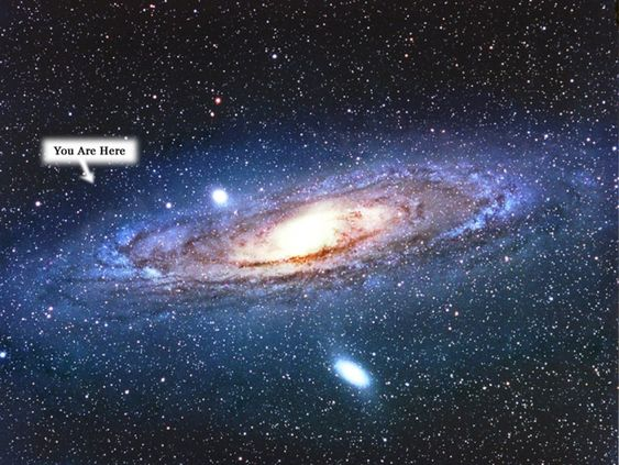 This is our Milky Way galaxy, and the arrow is pointing ...
