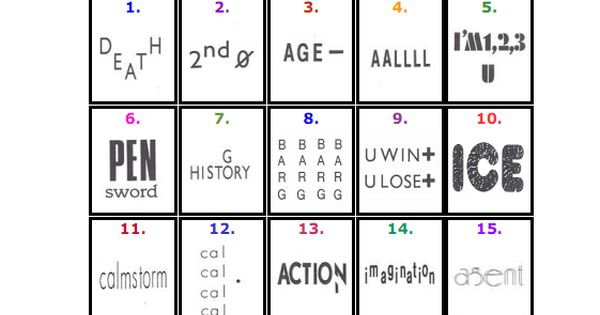 60 Printable Plexers Plexers Are Picture Puzzles Of Words