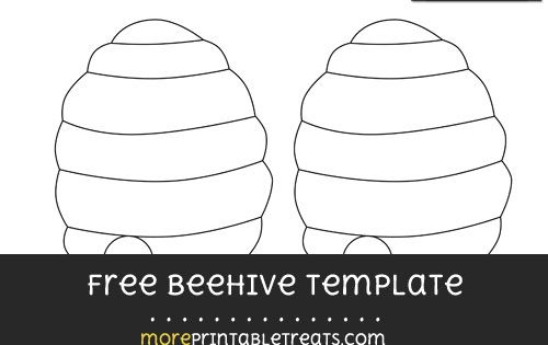 Free Beehive Template Medium Shapes And Templates Printables Pinterest Beehive