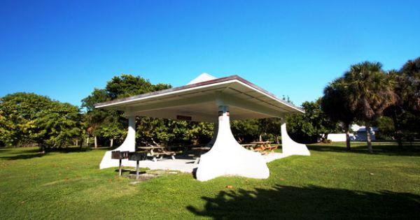 Picnic Pavillion At Bill Baggs Cape Florida State Park Key Biscayne Florida Key Biscayne