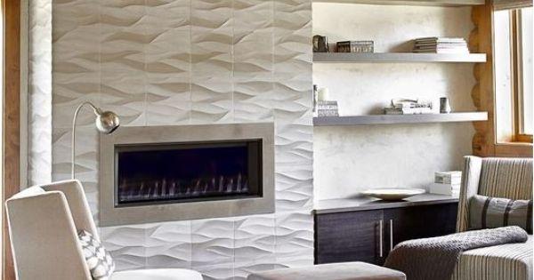 Wave Tile To Ceiling Fireplaces Tile Amp Design