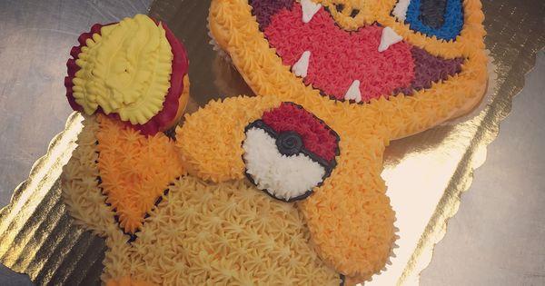 Charmander Cupcake Cake My Work Pinterest Cake