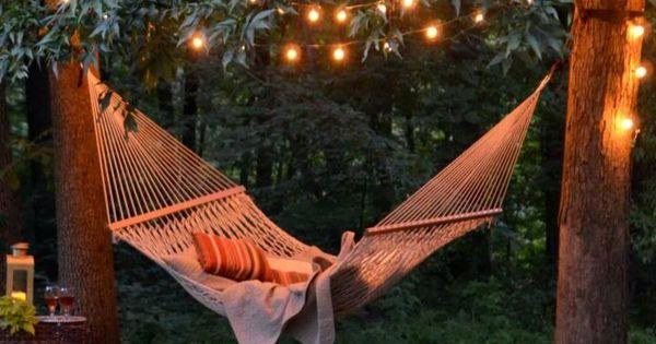 Backyard Hammock Backyard Romantic And Lights