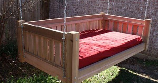 Brand New Cedar Victorian Daybed Swing Twin Mattress Size Swinging Bed Swings Ebay