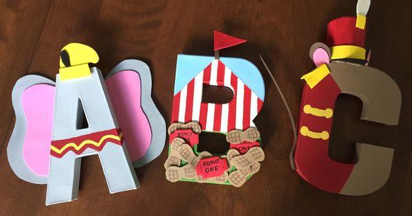 Dumbo Inspired Custom 8 Inch Paper Mache Letters Paper Paper Mache Letters And Paper Mache
