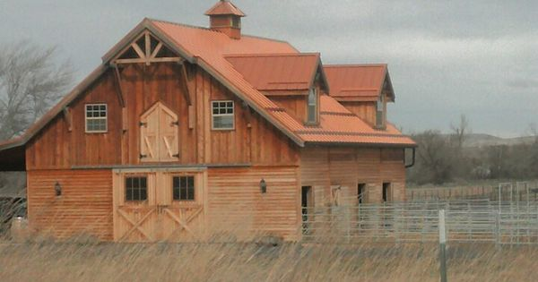 Wood Barn With Copper Roof And 4x4 Roof Eve Accents Home Design Pinterest Copper Roof