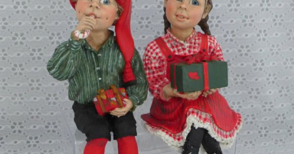 Candy Designs Figurines Norway Boy Girl Scandinavian