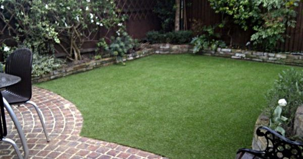 fake-grass-lawn-easy-low-maintenance-garden-small ... on Non Grass Backyard Ideas  id=26973