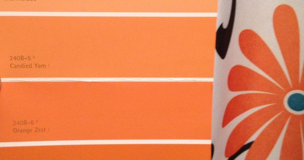 Behr Orange Color Pallet Leaning Toward Carrot Stick Bottom Paint Colors For The House