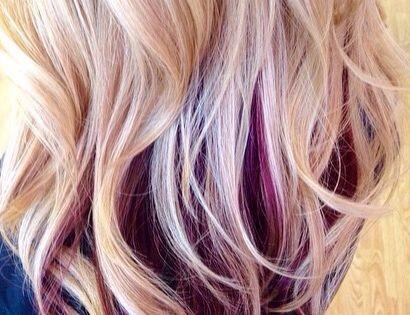 Beautiful Hair Color Black Cherry Under Blonde My