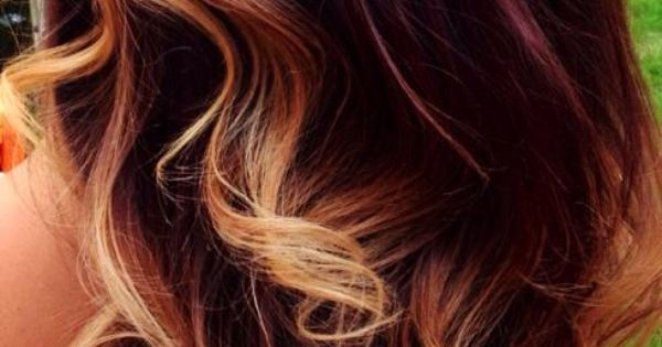 Mahogany Ombr HAIR Pinterest Color Combos Style