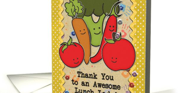 Thank You To School Cafeteria Worker Lunch Lady Veggies