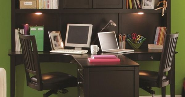 Two Person Ergonomically Friendly Dual T Desk With Storage Hutch Amp Three Drawer Single File