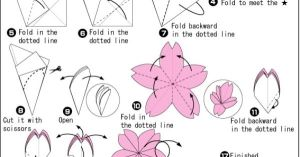 origami cherry blossoms | Let's make it! | Pinterest